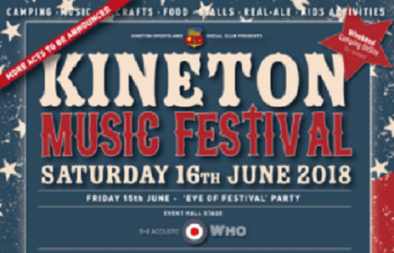 Kineton Music Festival is just around the corner